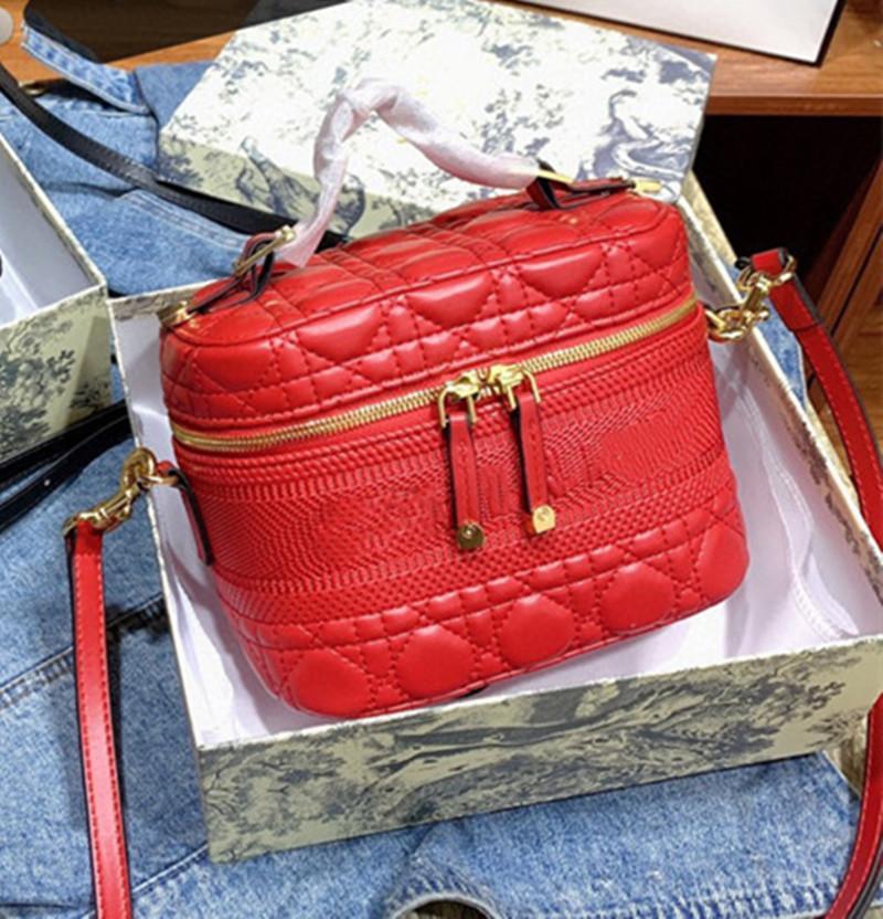 Black Red Color Cosmetic Bag Women New 2021 Style Classic Messenger Bag Pochette Metis Women Handbags Purse Bags D Tote Bag