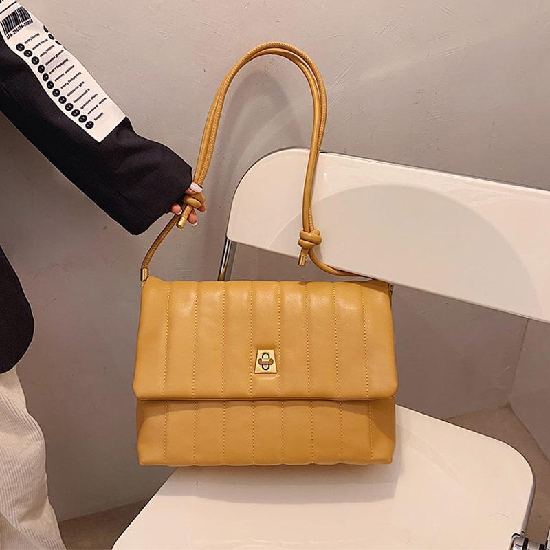 Сумки на ремне Высококачественная женская сумка 2021 весенний качество мода простая вышивка нить мессенджер маленький квадрат