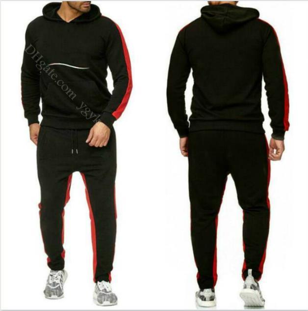 Set de diseñador Sweatsuit Moda para hombre con capucha, ropa deportiva casual, hombre de deportes al aire libre ropa exterior Sudadera + Pantalones Traje de sudor
