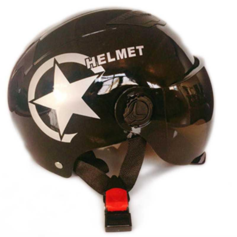 casco de motocicleta cara abierta ZK30 Cascos Bicicleta eléctrica Casco para moto monta la vespa del parabrisas