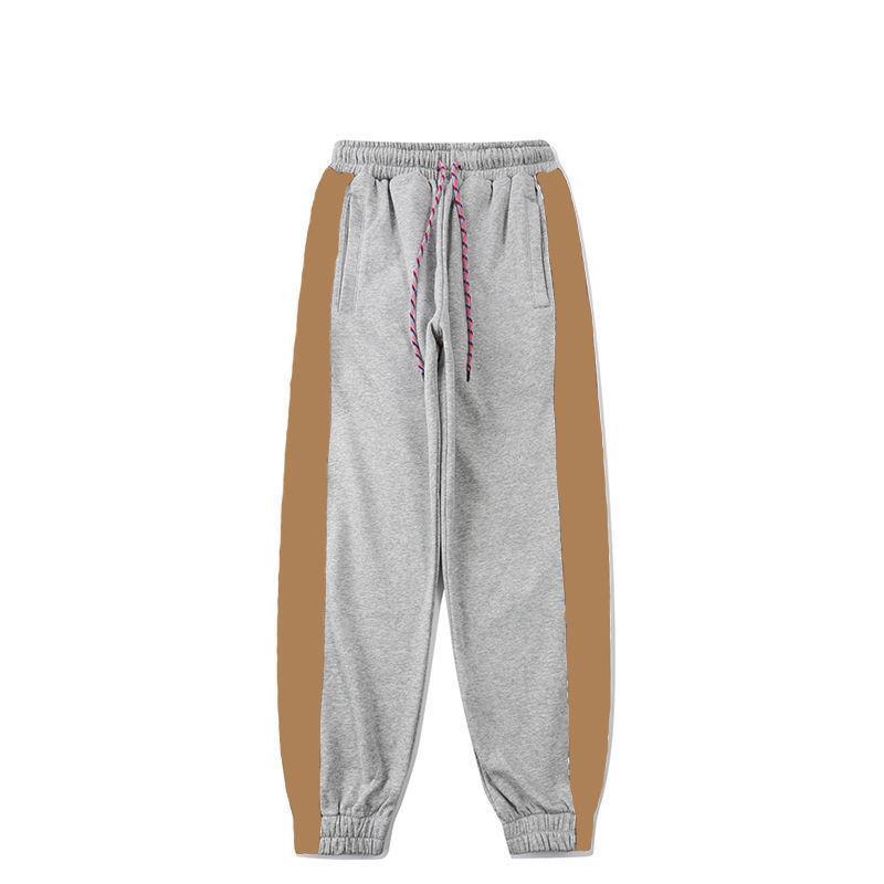 Fashion Mens Jogging Pants 2021 Men Women Stylist Lattice Stripe Letters Jogger Pant Overalls Beam Foot Trousers