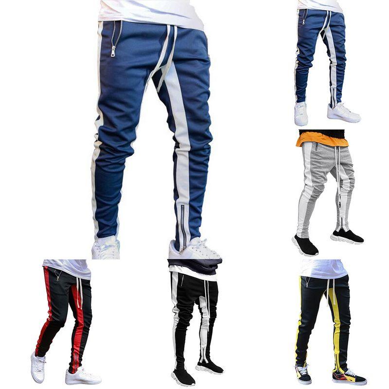 Mens Pantaloni Pantaloni Casual fitness sportivo Pantaloni di tuta Skinny Pantaloni sportivi pantaloni neri Palestre Jogger Maschio Pantaloni