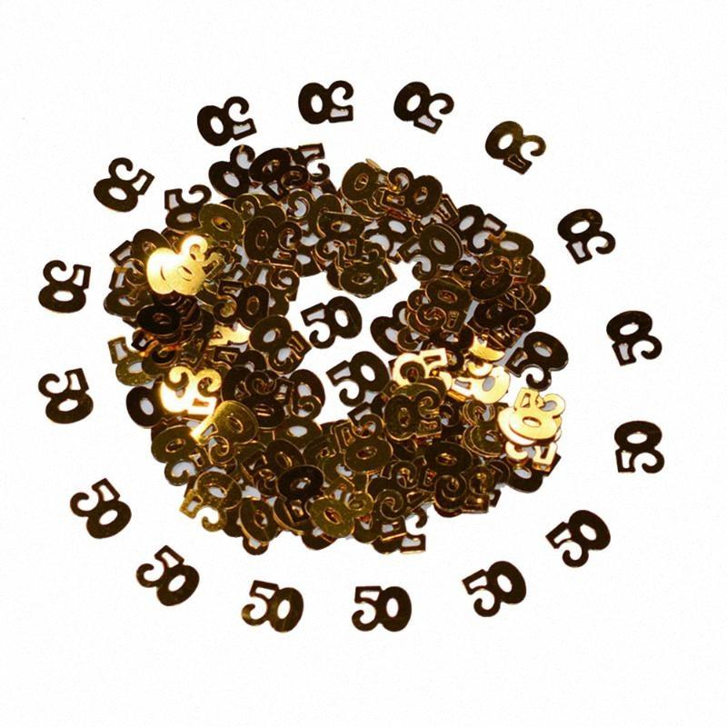 15g Gold Sparkle Happy 30th Birthday Confetti golden 30 Anniversary Party Table Scatter Decorations pUJo#