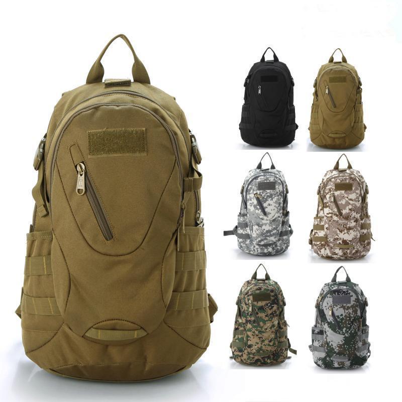 Сумки на открытом воздухе 20L многофункциональный камуфляж сумка рюкзак для отдыхающих кассовая атмосфера водонепроницаемый нейлон тактическая армия рюкзак