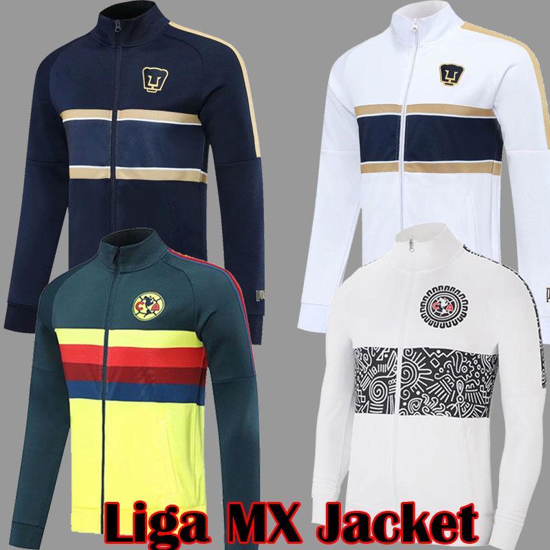2021 Liga MX Jacket Club América Jaqueta Branca Unam G Ochoa 20 21 Branco Treinamento Amarelo Terno Survego Futebol Jogging Camisola Homens Uniforme