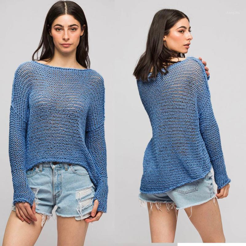 Off Shoulder Pullover Womens Sweater Knitted Sweater Women Long Sleeve Loose Jumpers Oversized Pull Femme Plus Size XL1