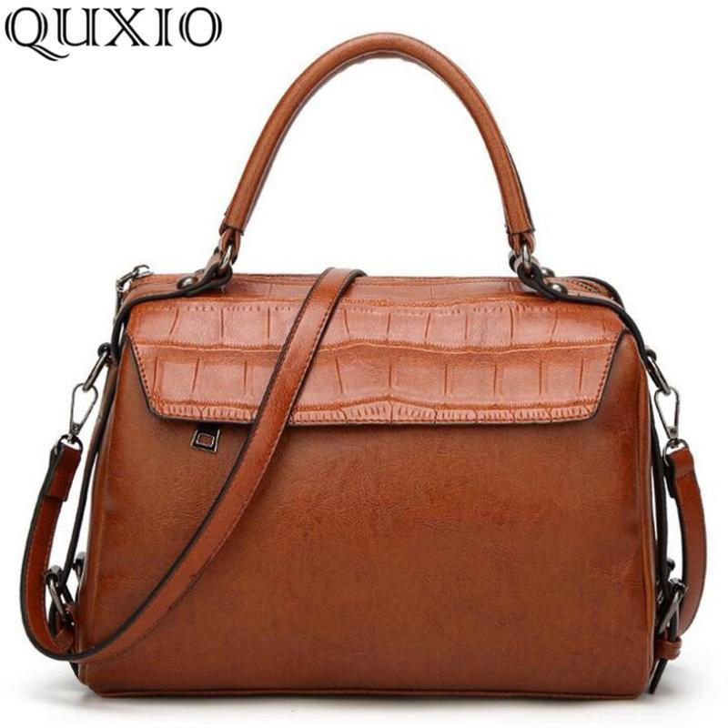 2020 New Vintage Women Handbags Crossbody Soft PU Leather Shoulder Bag High Quality Fashion Brand Designer Bags Handbag YY04