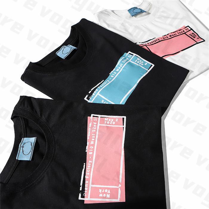 2020 Femmes Designer T-shirts Lettre Cadre Imprimé Femme T-shirt T-shirt Top Qualité Coton Tees Casual Sleeve Sleeve Luxe T-shirts