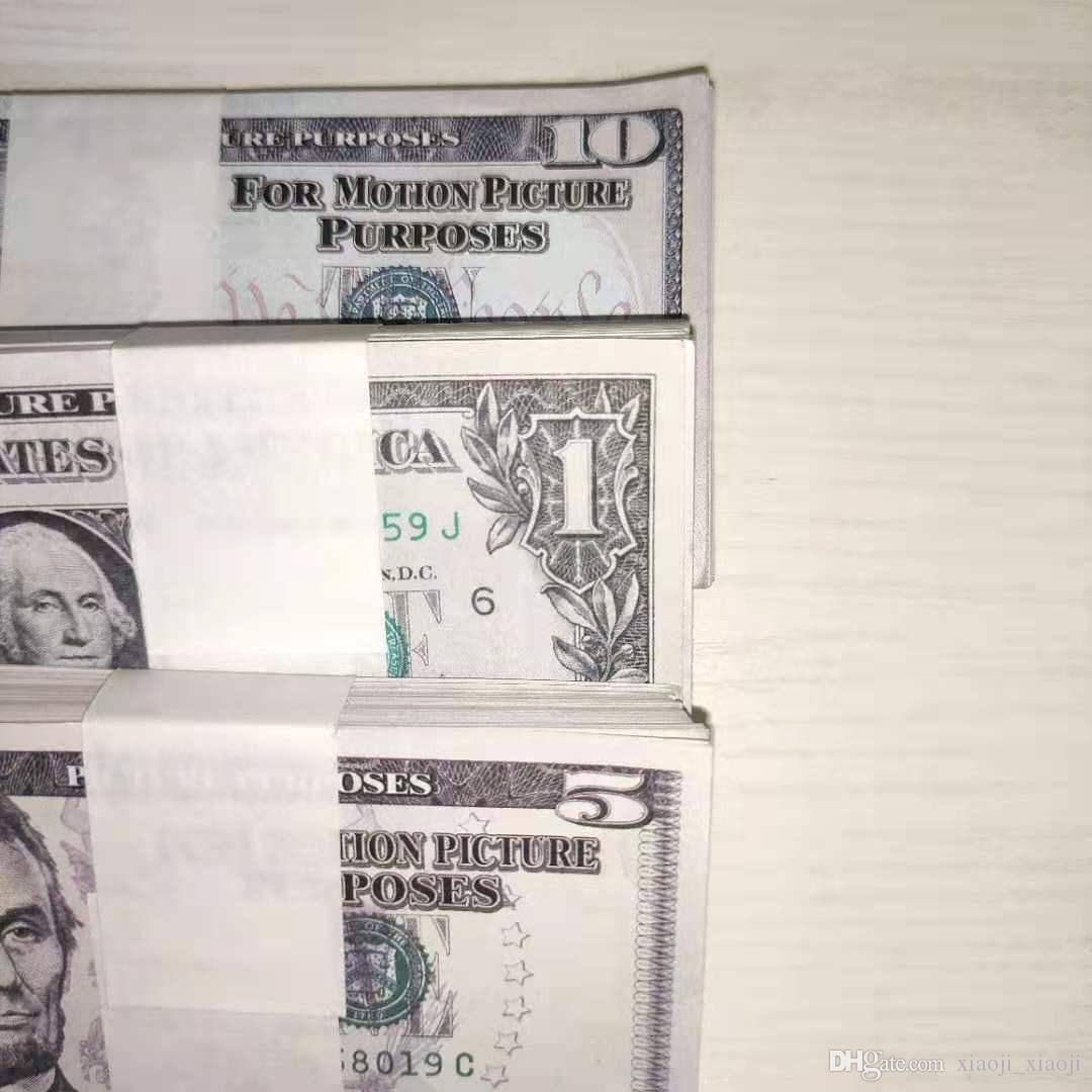 Billet de nuit Dollar en gros Barre de nuit 03 1/10/20/20/50/100 Billet d'argent Money Film Femmes Ambiance Faux Ambiance Faux Jouer Money PL TQJJF