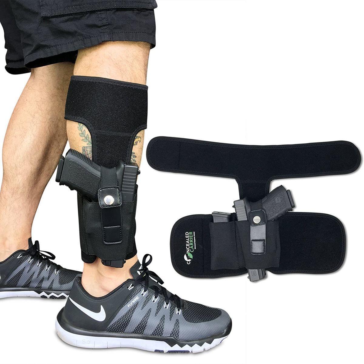 Nascosto Carrier (TM caviglia Holster per trasporto occulto pistola | universale Leg Carry Holster con Magazine Pouch per Glock 42, 43, 36,