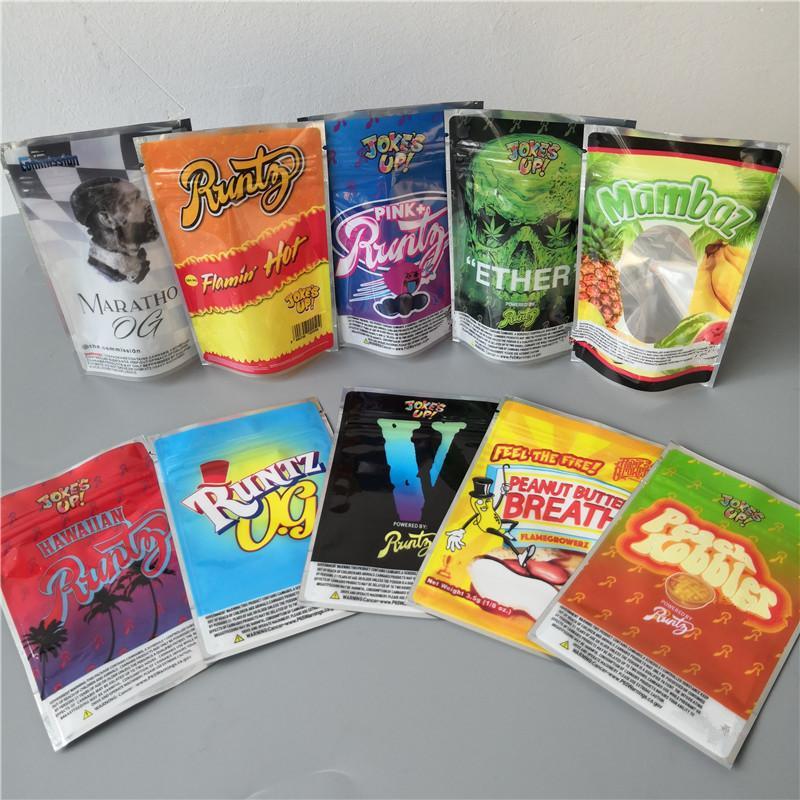 NOUVEAU Flamin HOT RUNTZ JOKESUP 3.5G Marathon OG SAC SAC RUNTZ GLÉTIES ZOURZ Emballage à la épreuve de l'odeur pour 10 types Sac MyLar