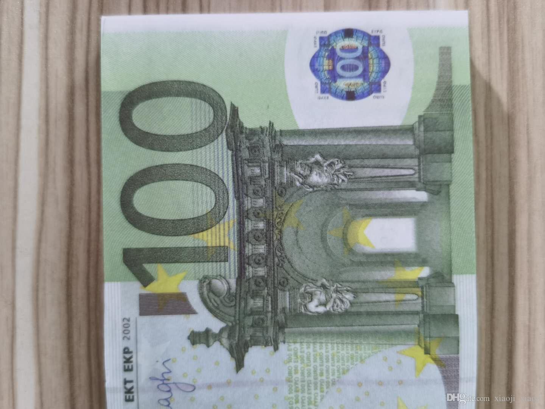 Soldi copia la maggior parte dei soldi realistici Euro Prop Nightclub Note Nota carta moneta per Business Play Filw Movie 100 Collezione Banca 21 CSGAE