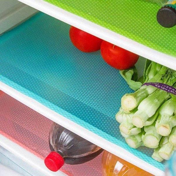 Toptan-4pcs Antibakteriyel Karşıtı Kirlenme Küf Nem Kesilebilir Buzdolabı Pad Mat Akko #