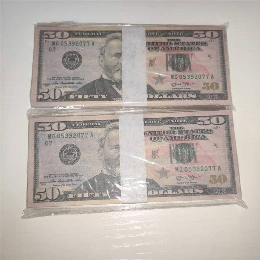 Shipping Pieces/package Dollar Props 100 Atmosphere American Paper Money Props 50-4 Wholesale Paper Fast Currency Bar Qmtlg Eovct