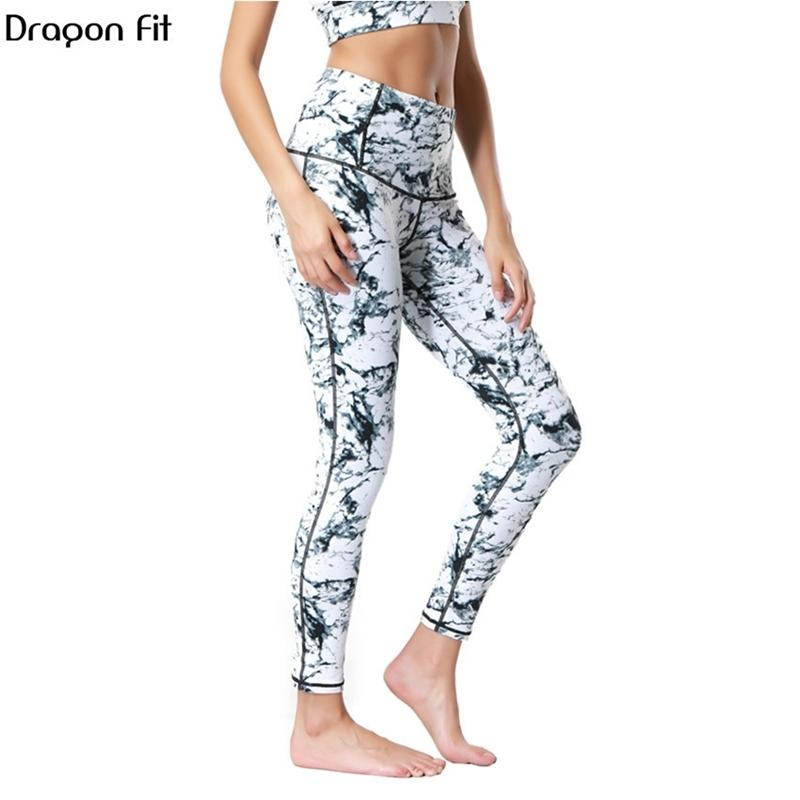 Dragon Fit Respirável Imprimir Calças Yoga Quick Seco Calças de Desporto Mulheres Fitness Ginásio Running Calças Sportswear Calças de Yoga Leggings Y200529