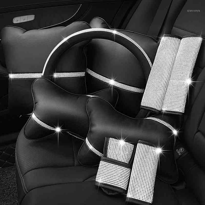Bling Direksiyon Kapağı Kristal Rhinestone Elmas Araba Direksiyon Kapakları Araba Styling Oto Aksesuarları Için Set Serisi Kız1