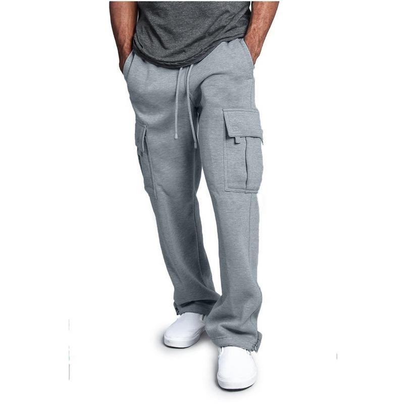Hommes Pantalons Joggers HiPhop Fashion Casual Pantalons simples Hommes Taille élastique Tête Casual Hip Hop Pantalant Pantalons Streetwear Y201123