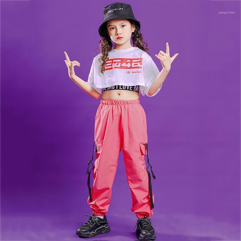 Vêtements de danse de jazz de nouvelles filles enfants HIP HOP STREET DANCE COSTUMES STREET DANCE PORTE-LE DES ENFANTS TENUE DE PERFORMANCE MODERNE DN62791