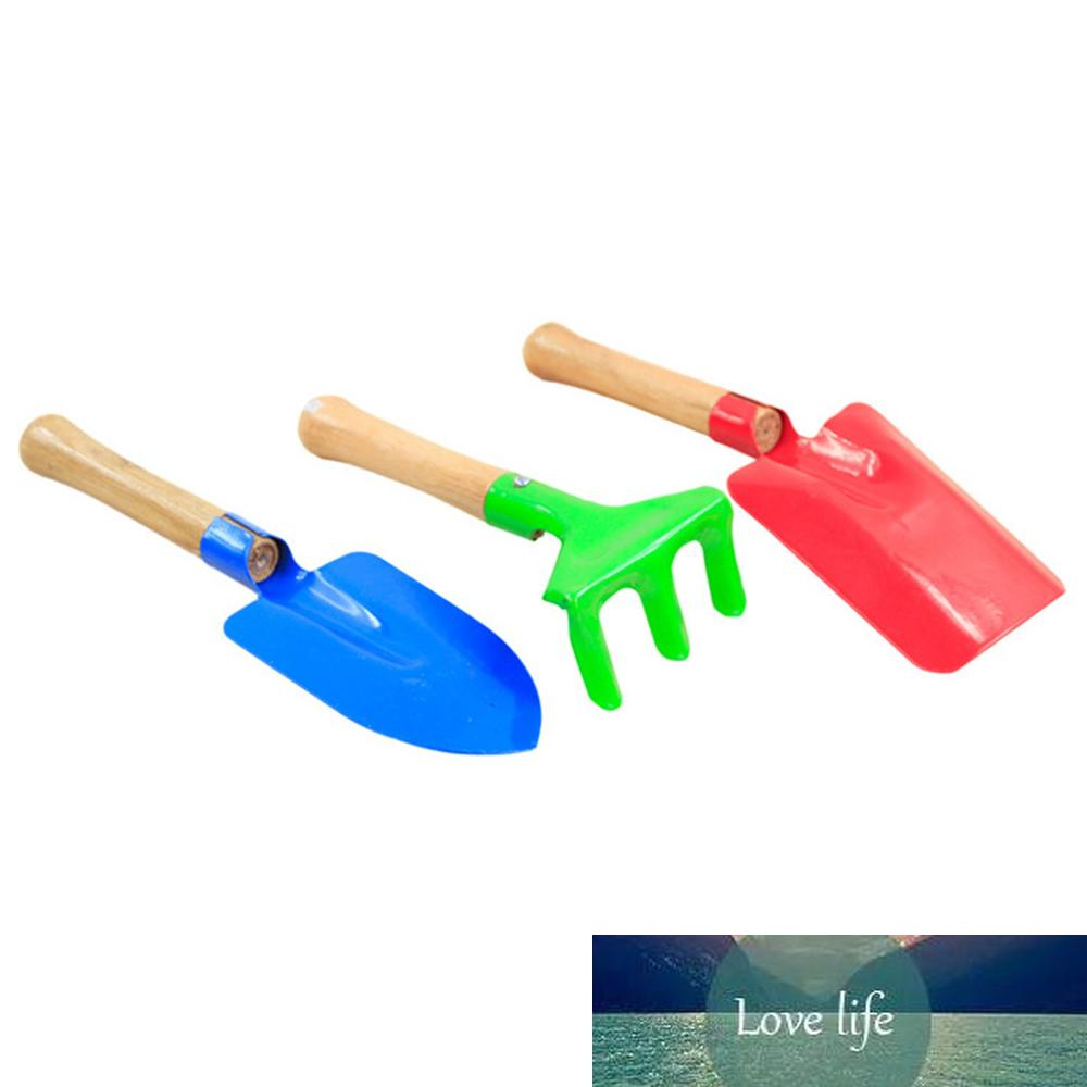 Mini Gardening Tools Wood Handle wood + iron Potted Plants Shovel Rake Spade for Flowers Potted Plant