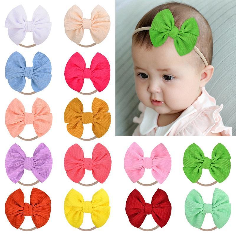 20Pcs Baby 4.8 Zoll Fest Bogen Stirnband-elastischer Haar-Bänder Kleinkind Kopfbedeckung Haarschmuck Schönes Huilin C507