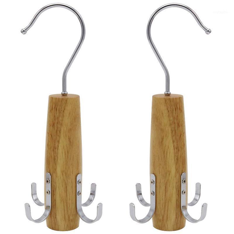 Haken Schienen TOP! - Gurt Racks, 2 Packungsschwenkschrank Sperrschoner mit 4 für hängende Schals, Gürtel, Krawatten, Schmuckzubehör Orga1