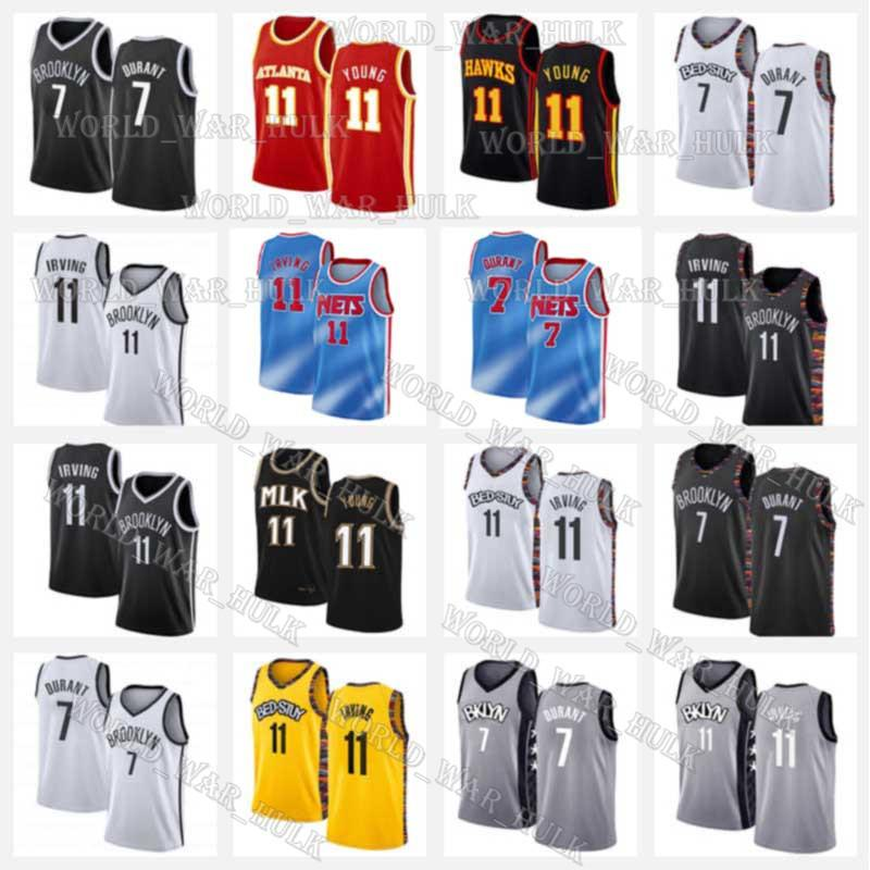 11 Irving Кевин Дюрант 7 Джерси Trae 11 Young Кирие BrooklynсетиAtlantaЯстребыMens 2020 2021 Новый баскетбол Джерси