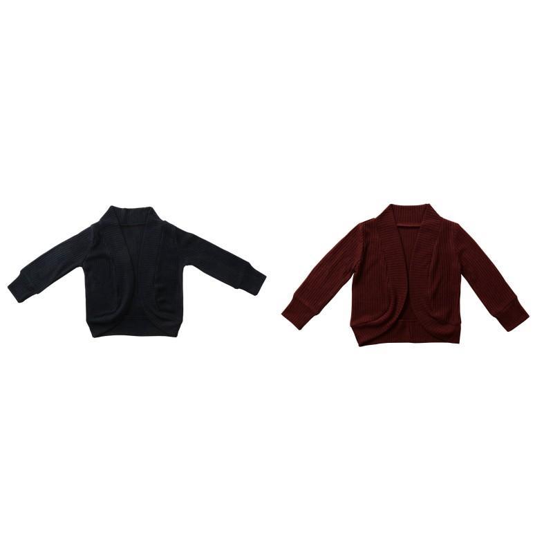 Baby Boy Girl Thirtwear Sweater ins inse осень длинный рукав ребенок хлопок кардиган мода аксессуары вино красный черный пальто 529 k2