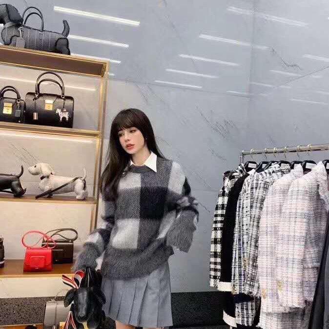 20201010 Nuovo pullover girocollo controllare moda sciolto tutto l'usura delle donne maglione mondiale in autunno e in inverno