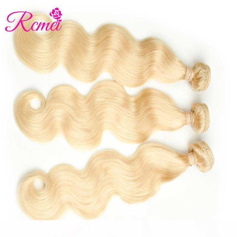 Rcmei Mongoain Remy capelli crespi ricci 613 Capelli biondi 3 Bundles # 613 Per Hair Salon 10-30 pollici può mescolare prezzi all'ingrosso