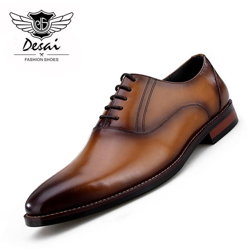Новые мужская обувь из натуральной кожи Британских квадратной носок обувь европейской высокого класса Мужской обувь Формальной Дышащая Удобная кожаная обувь
