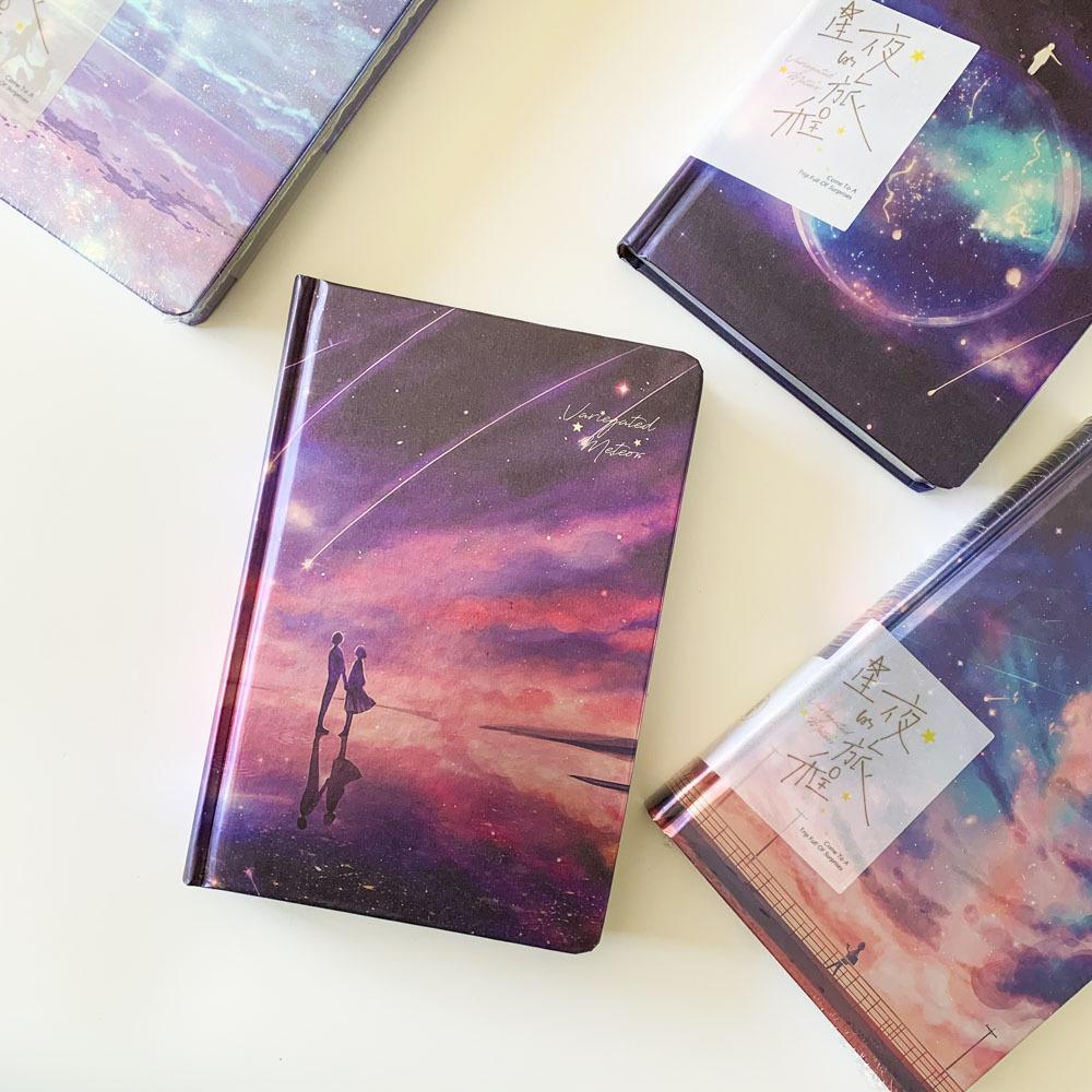 """""""النجوم تأتي"""" الغطاء الصلب مذكرات جميلة دفتر الأوراق الملونة المفكرة مجلة مذكرة أطفال القرطاسية هدية T200727"""
