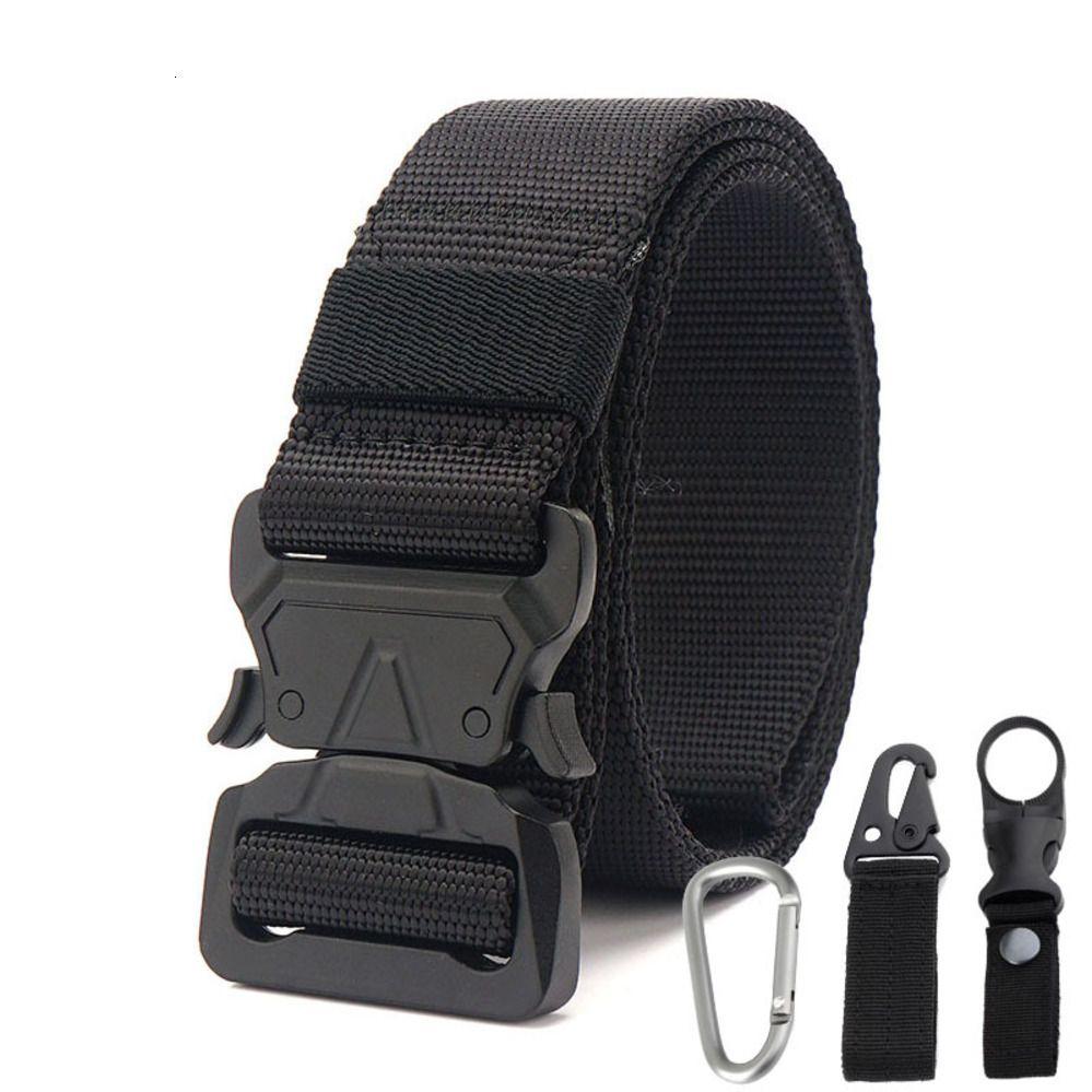 Designerbelt2019 New Pure Black Tactical Открытый спортивный пояс Прочный нейлон 1000D