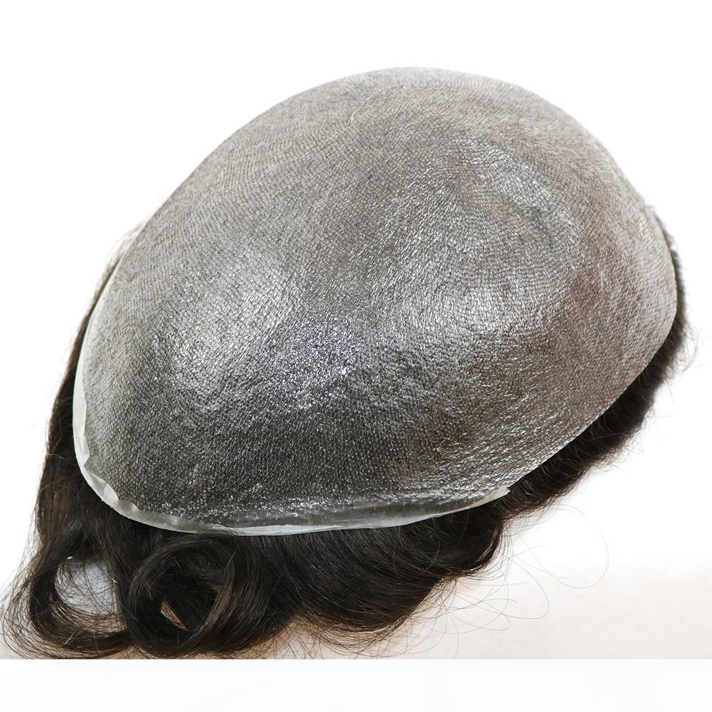 الرجال جلد رقيق جدا والشعر المستعار V حلقة 8x10inch، سماكة 0.02-0.03mm NG الرجال باروكة شعر، شعر النظام replacment الشحن المجاني