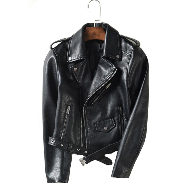 Veste en cuir avec ceinture automne femmes 5 couleurs Moto Biker asymétrique Zipper Femme Faux Manteau en cuir Outwear haute qualité 201022