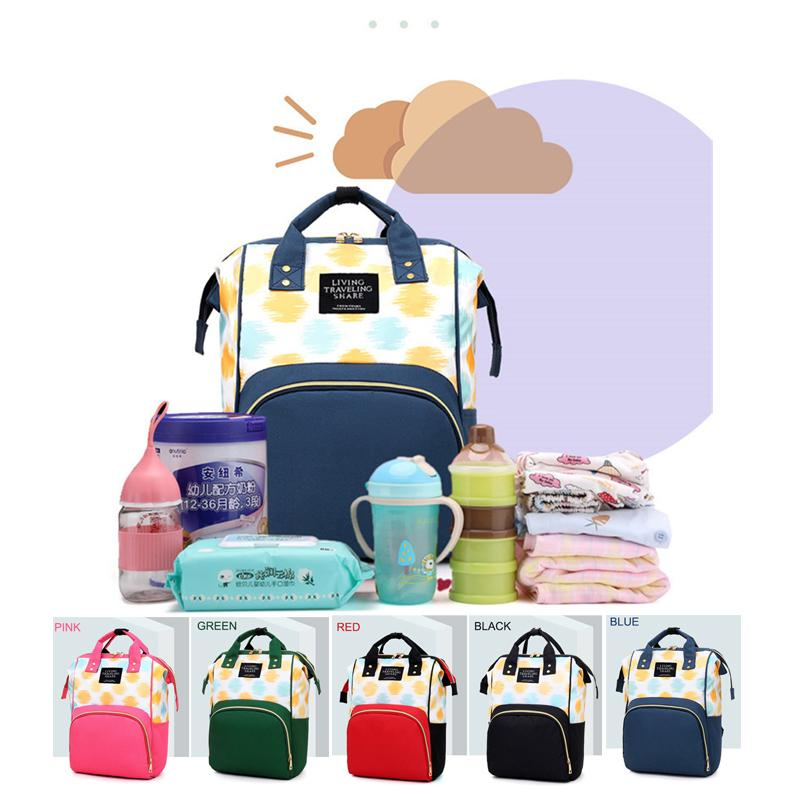 Diapers Bag For Mummy Multifunctional Mom Baby Travel Backpack Maternity Nappy Bag Large Capacity Nursing Bag For Stroller LJ201013