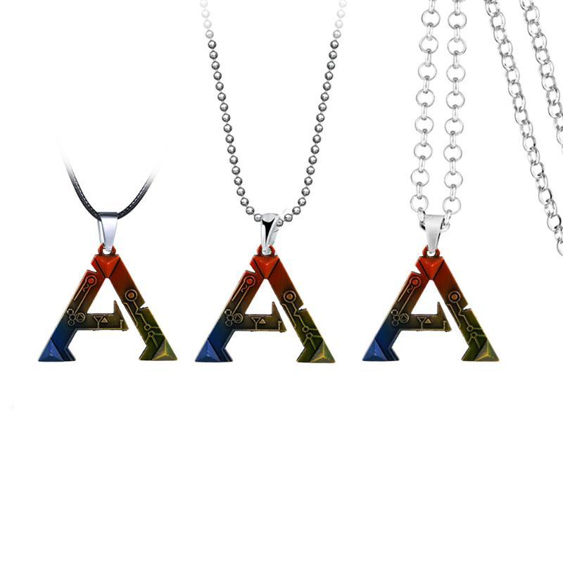 Anime Ark Überleben Evolved Halskette für Frauen-Legierung-Seil-Ketten-Mehrfarben Brief Halskette Herren kolye COLLARES Schmuck