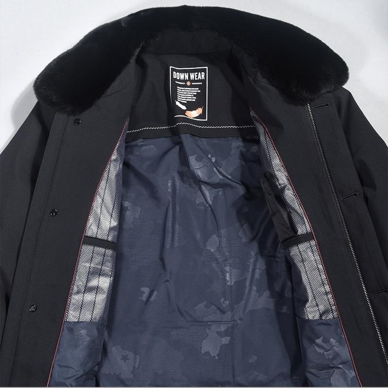 wklw 2020 nouvelle veste épaisse down hiver down designer blanc manteau blanc concepteur vêtements chaud véritable raton laveur fourrure collier