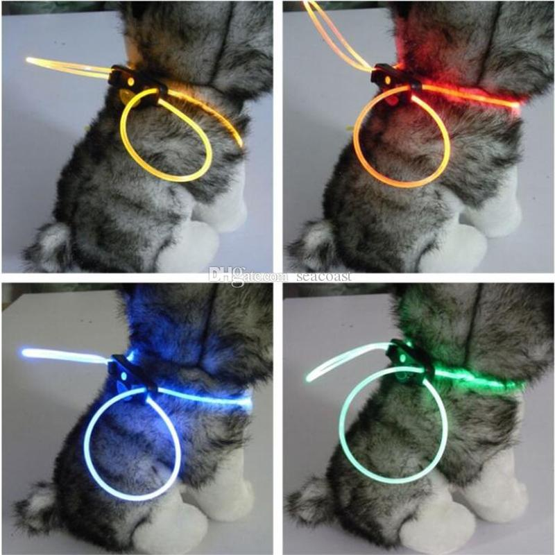 200 unids LED encienda el cuello de perro Luminoso Flashing Noche Seguridad Pet Cat Cat Correa Color Colorido a cualquier tamaño