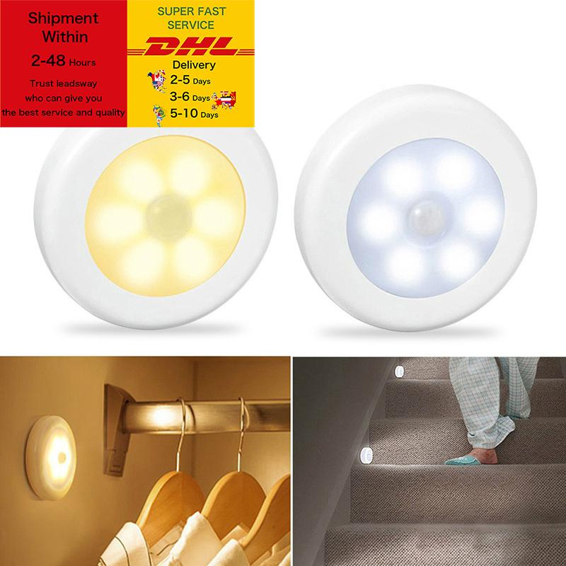 Motion Sensor wireless night lights bedroom decor light LED Detector wall decorative lamp staircase closet room aisle lighting DHL Free