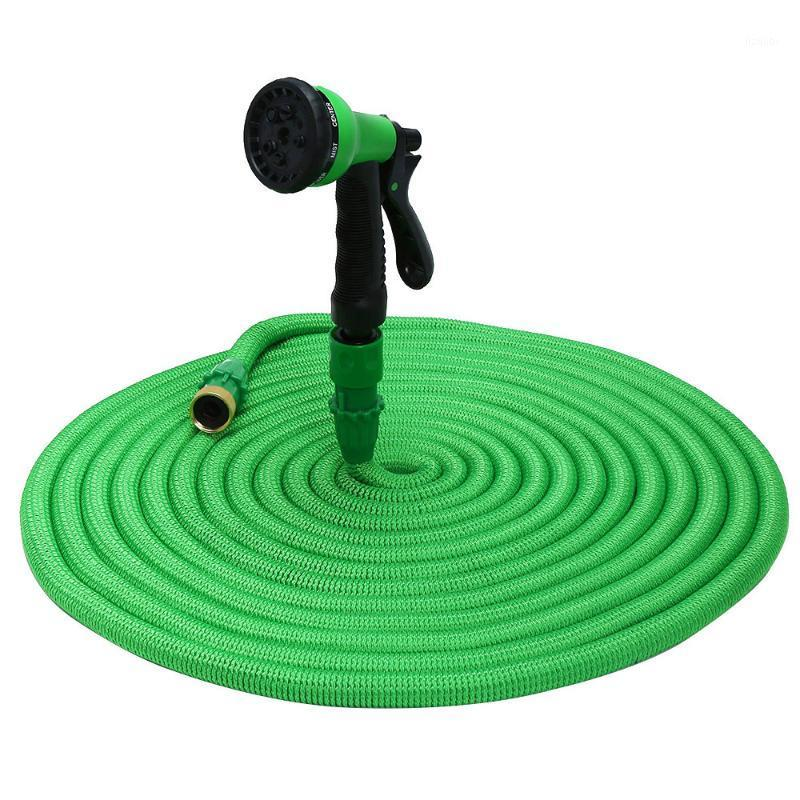British Thread 25FT-100FT Expandable Garden Hose Magic Flexible Irrigation Watering Pipe With 8 Modes Spray Gun Tube Hose1