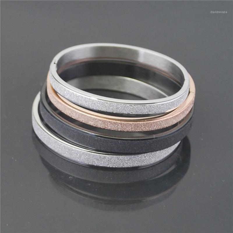 Mode Edelstahl Paar Armbänder für Frauen Mädchen Rose Gold Farbe Frosted Geflochtene Armband Männer Paar Freundschaft Schmucksachen1