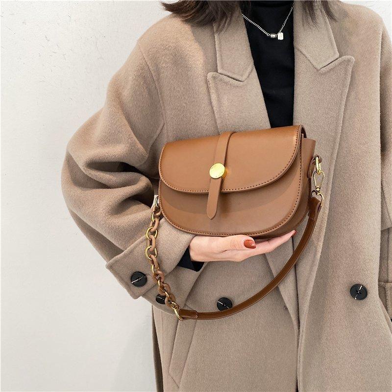Lüks 2021 PU Deri Omuz Moda Trend Çanta Katı Çanta Çantalar Renk Kadın VFNKT