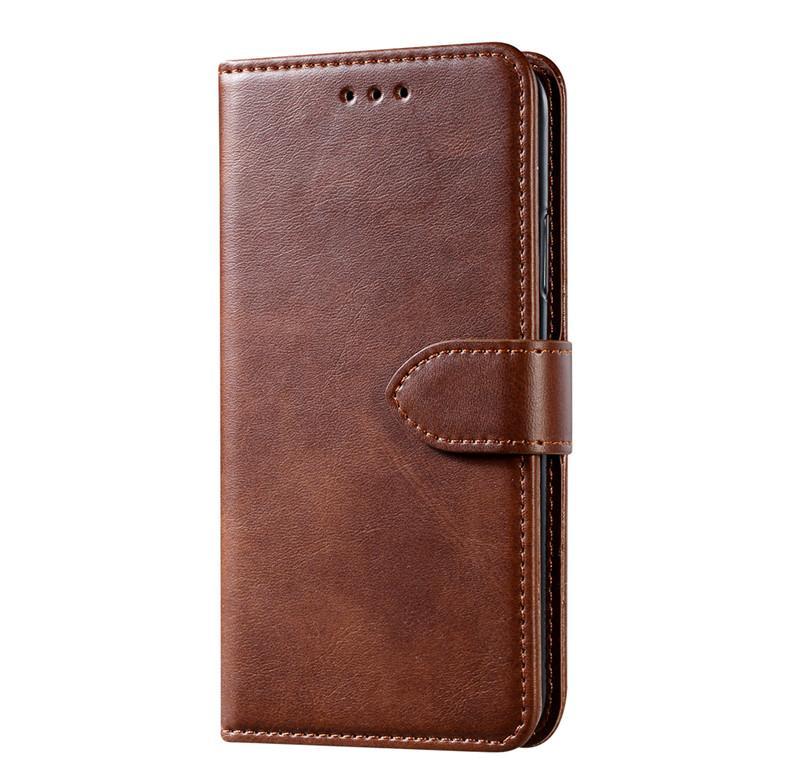 caja del teléfono móvil es adecuado para iP caso de cuero 12 billetera 8 Plus caja del teléfono piel de becerro tarjeta de funda protectora IP móvil 7