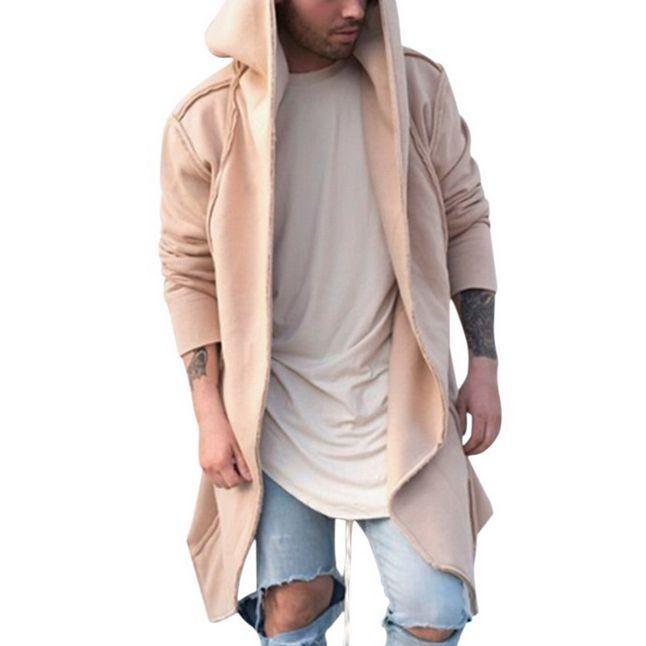 Nueva unisex para hombre Casual Cardigan con capucha larga capa capa del cabo de Cosplay suelta chaqueta para hombre de las chaquetas sudaderas con capucha sudadera con capucha