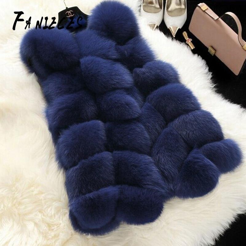 Bahar Kış Yeni Moda Kürk İmitasyon Tilki Kürk Kadın Uzun Kürk Yelek Abrigo Mujer Aşırı Bontjas Fourrure Açık Dikiş 201111