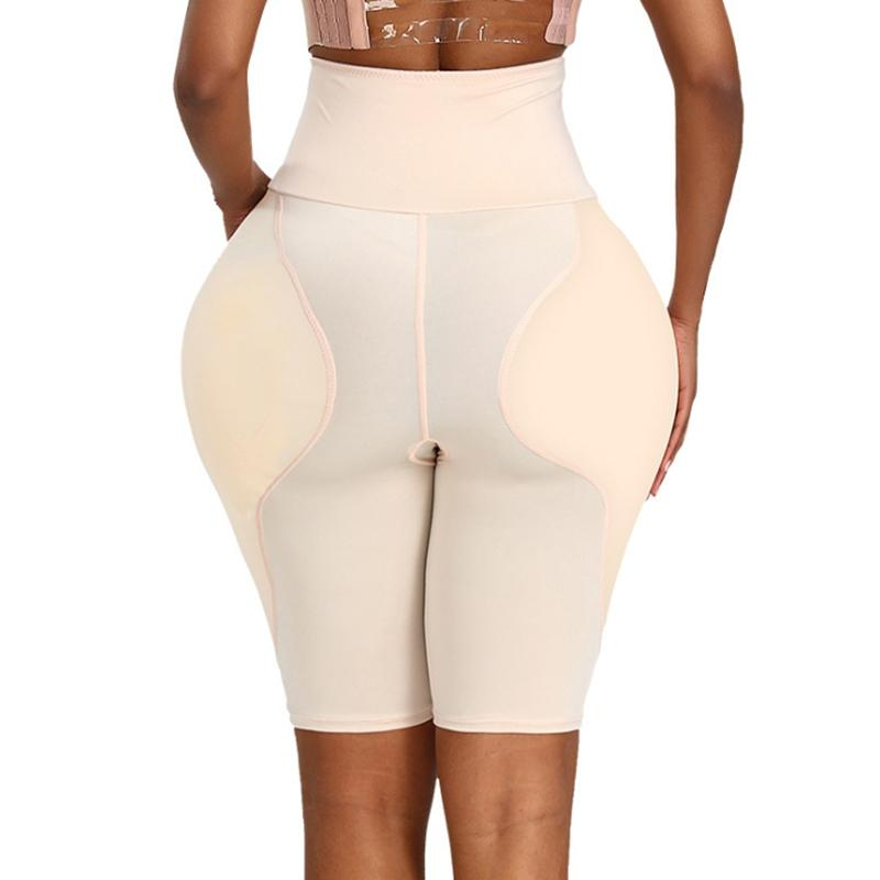 High Waisted Waist Trainer Shapewear Body Tummy Shaper Fake Ass Butt Lifter Booties Hip Pads Enhancer Booty Lifter Thigh Trimmer