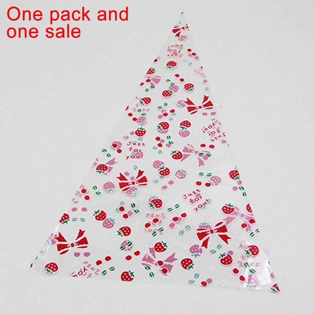 Anniversaire enfant 50pcs Cône Paquet Sac mignon bonbons Triangle Panier Party Favor cadeau Effacer Fournitures de mariage Cookie Accueil rqo8 #