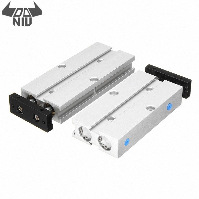DANIU TN10x40/TN10x50 Air Cylinder 10mm Bore 40/50mm Stroke Double Rod Pneumatic T10 Air Cylinder Double Acting Aluminum Alloy 8Yp0#