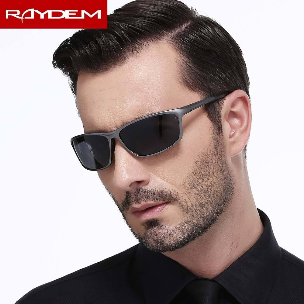 Gafas de sol Hombres para espejo Magnesio Polarizado Vasos Masculinos Hombre Oculos Accesorios Eyewear Raydem Recubrimiento Aluminio DGUPR