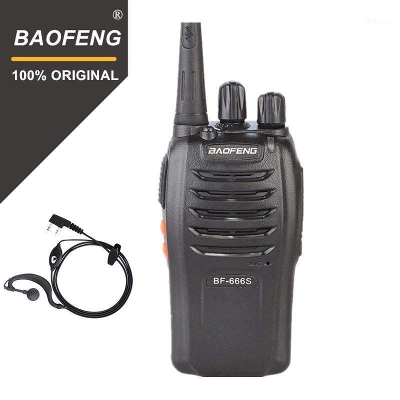 100% Baofeng BF-666s Walkie Talkie 16CH Practical Two Way Radio UHF 400-470MHZ Portable Ham Radio 5W Programmable1